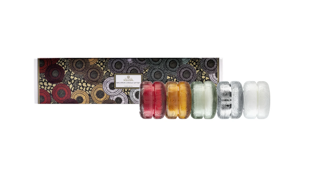Japonica Macaron 5 Candle Gift Set