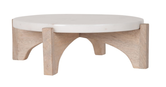 Arne Marble/Wood Cake Stand