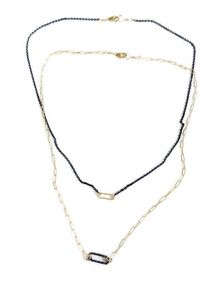 CV Designs Shimmer Oval Link Necklace