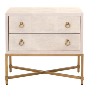 Strand Shagreen 2-Drawer Nightstand