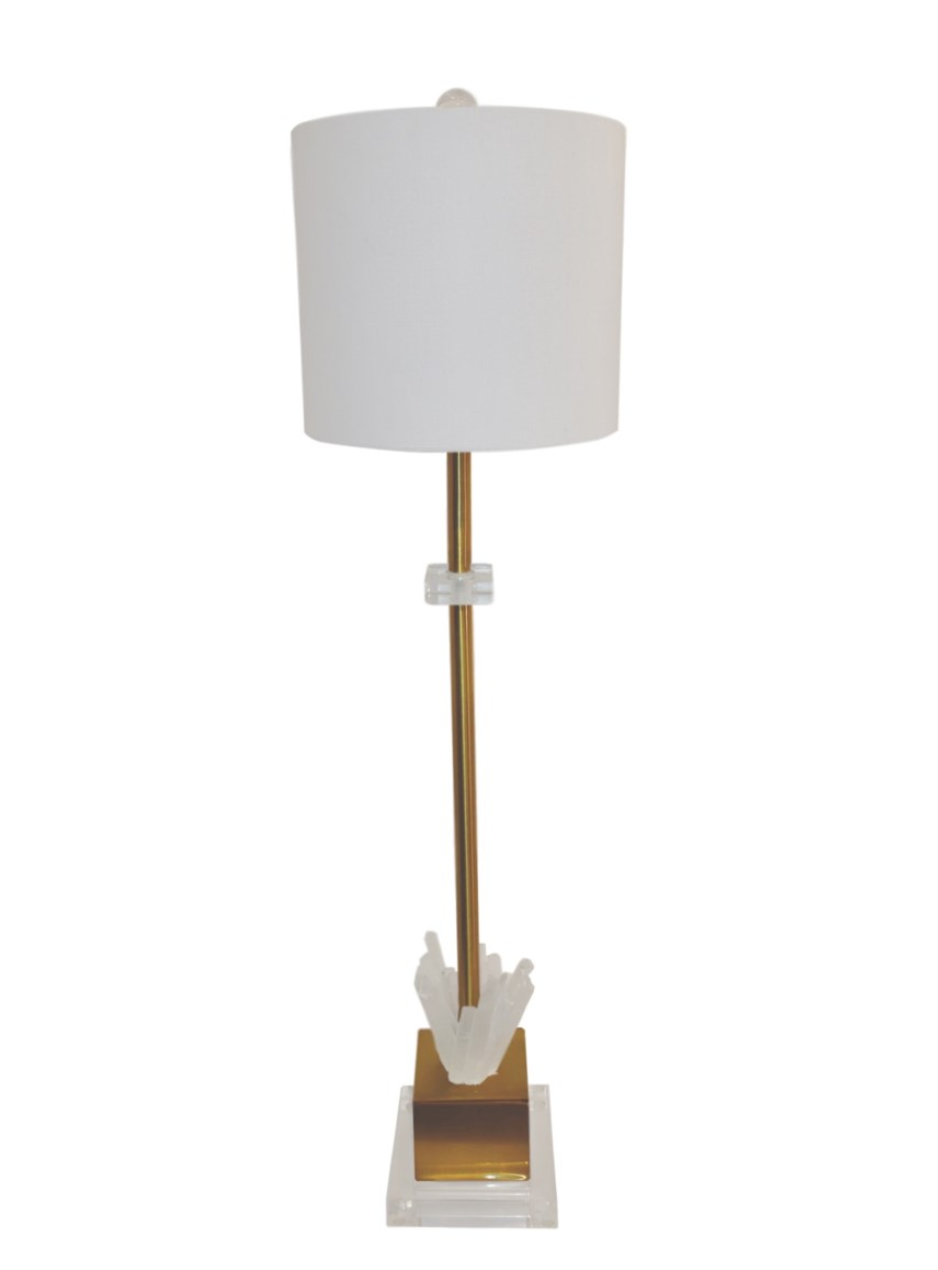 Petite Windsor Selanite Table Lamp - 13 Hub Lane   |
