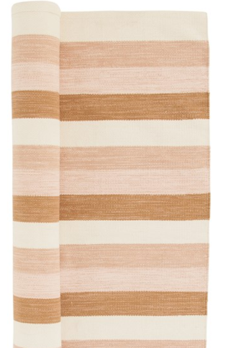 Cotton Striped Rug - 13 Hub Lane   |