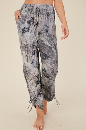 Tie Dye Ruched Pants - 13 Hub Lane   |