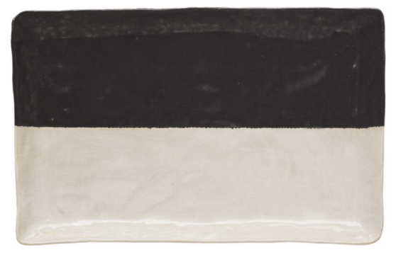 Black and White Stoneware Platter - 13 Hub Lane   |