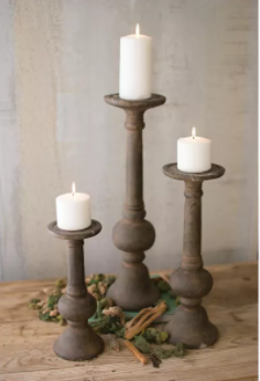 Rustic Cement Candle Holder