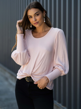 Twist Front Top - 13 Hub Lane   |  Shirt