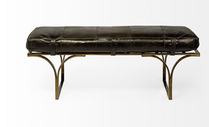 Jessie Leather Bench - 13 Hub Lane   |