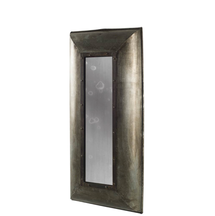 Flint Rectangular Metal Frame Mirror - 13 Hub Lane   |  Mirror