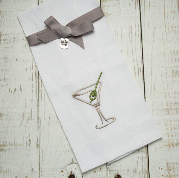 Crown Linen Martini and Olive Towel