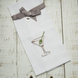 Crown Linen Martini and Olive Towel - 13 Hub Lane   |