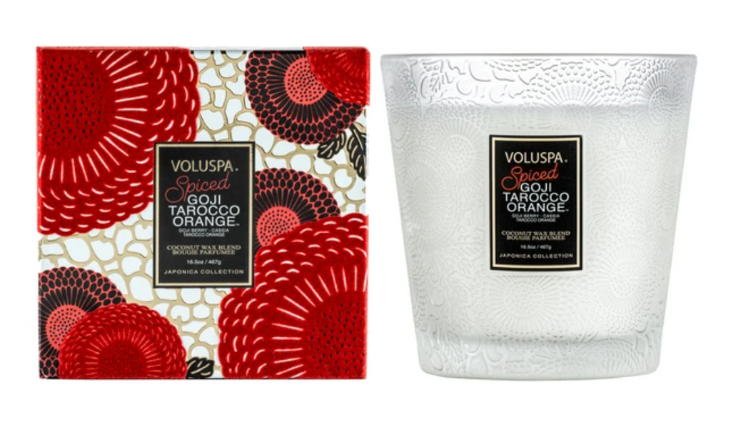 Voluspa 16.5 oz. Spiced Goji Tarocco Orange 2 Wick Hearth Candle