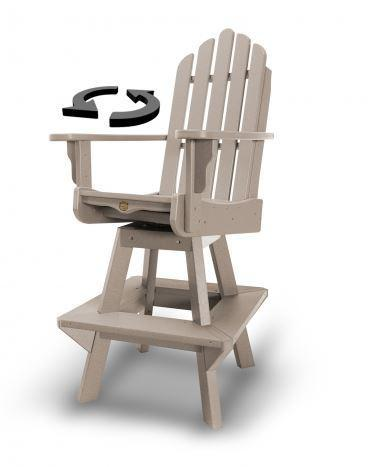 Outdoor Adirondack Swivel High Chair - 13 Hub Lane   |  Chair