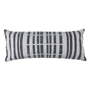 Block Print Lumbar Pillow Broken Stripe