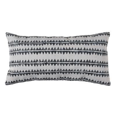 Block Print Lumbar Pillow Sawtooth Stripe