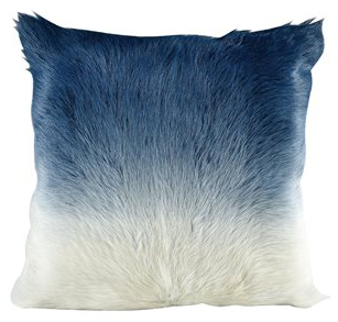 "Bareback Lamb Fur Pillow Blue Fade 20"" Sq - 13 Hub Lane   