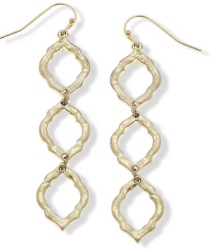 Ella Drop Earrings in Worn Gold - 13 Hub Lane   |  Earrings