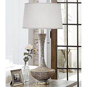 Milano Snow Glass Table Lamp - 13 Hub Lane   |  Table Lamp