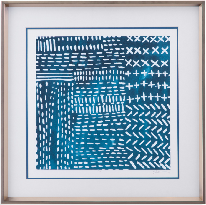 Sashiko Stitches IV Wall Art