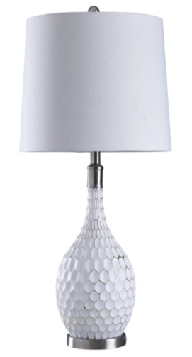 Aglona Painted Glass Table Lamp - 13 Hub Lane   |  Table Lamp