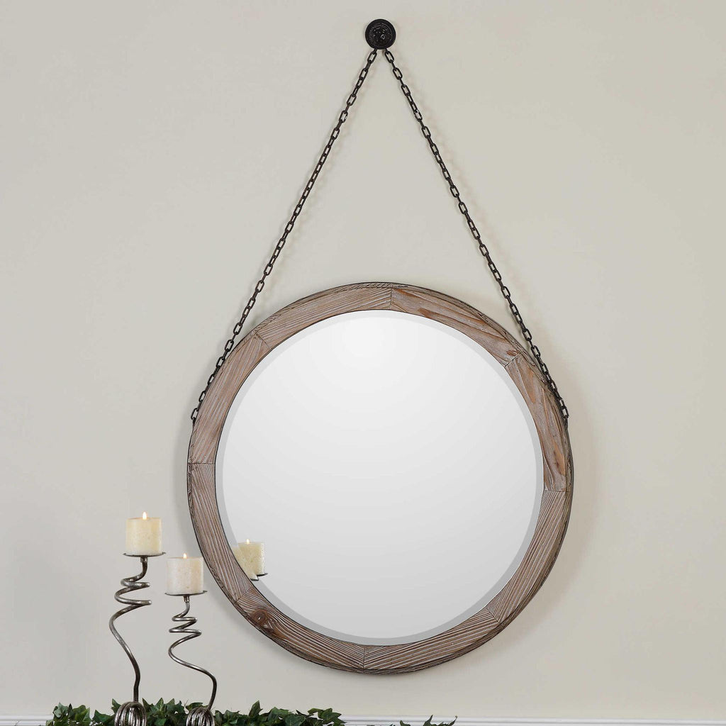 Loughlin Round Mirror - 13 Hub Lane   |  Mirror