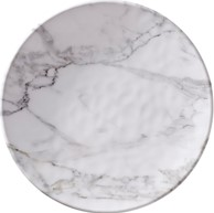 White Marble Salad Plate - 13 Hub Lane   |