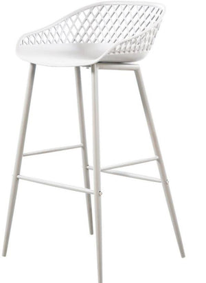 Outdoor Bar Stool MOES Piazza White - 13 Hub Lane   |  Stool