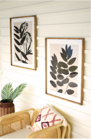 Black Leaf Prints