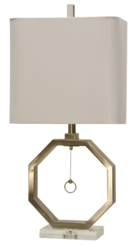 Brushed Steel & Acrylic Base Table Lamp - 13 Hub Lane   |  Table Lamp