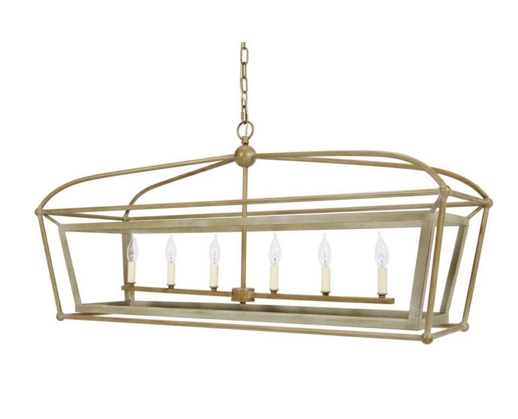 Providence Rectangular Metal Chandelier - 13 Hub Lane   |  Chandelier