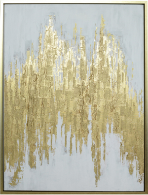 "Manhattan Abstract Canvas Art 32"" x 41.5"" - 13 Hub Lane   