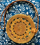 Handbag Round Rattan - 13 Hub Lane   |  Bag