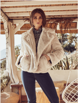 Fifteen Twenty Plush Faux Fur Jacket