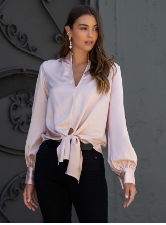 Tie-Front Top - 13 Hub Lane   |  Shirt