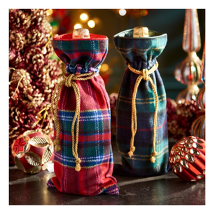 Plaid Wine Bags - 13 Hub Lane   |