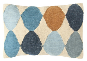 Woven Wool Blend Lumbar Pillow