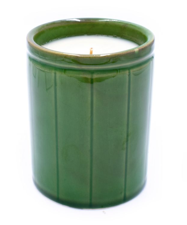 Green Crockery Candle