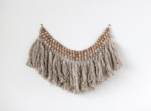 Bead & Wool Wall Hanging - 13 Hub Lane   |