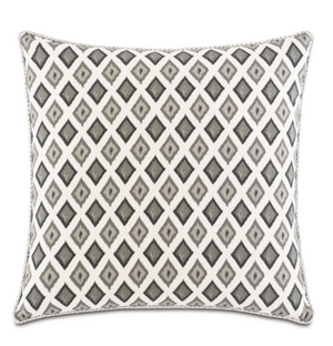Bale Truffle Euro Sham - 13 Hub Lane   |  Decorative Pillow