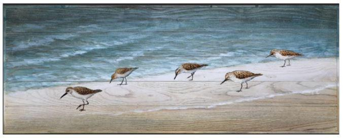 Wood Wall Decor BAYN Sandpiper Stroll