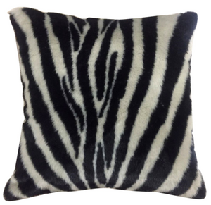"Zebra Hide Pillow 20"" x 20"" - 13 Hub Lane   