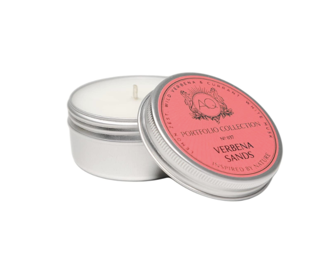 Verbena Sands Soy Travel Tin Candle - 13 Hub Lane   |  Candle