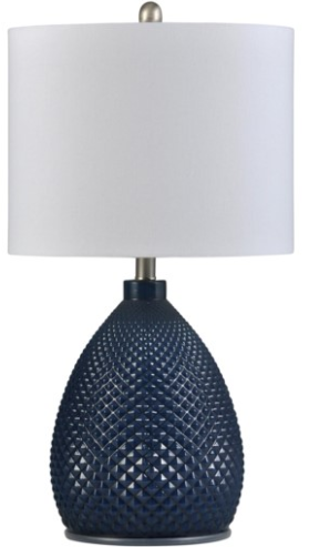 058-Table Lamp - Navy Blue | Glass - 13 Hub Lane - Style Craft Table Lamp