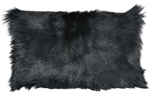 "Black Bareback Lumbar Pillow 12"" x 20"" - 13 Hub Lane   
