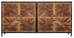 "Athens Sideboard Mango Wood w/ Walnut Finish 80"" x 19"" x 39"" - 13 Hub Lane   