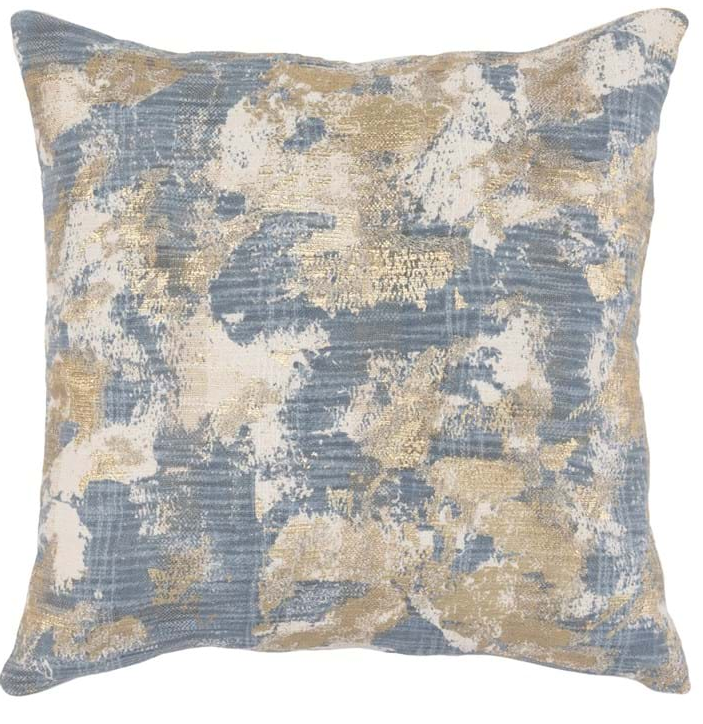 Luciana Rain Blue Pillow