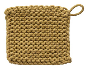 "8"" Square Cotton Crocheted Pot Holder - 13 Hub Lane   