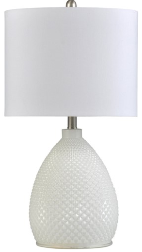 058-Table Lamp - Pure White - 13 Hub Lane - Style Craft Table Lamp