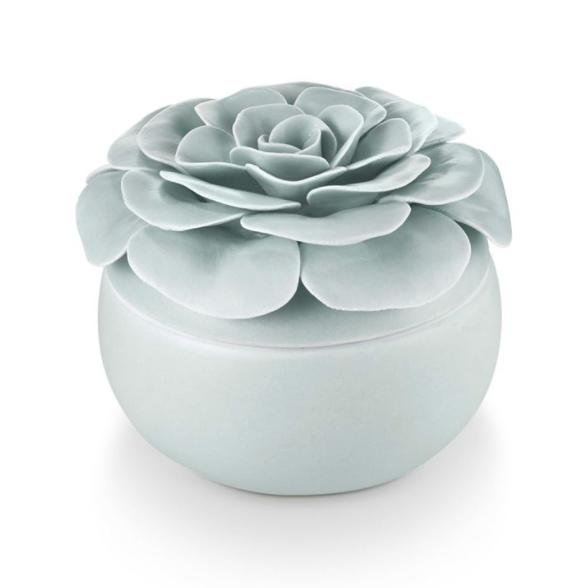 Ceramic Flower Candle - 13 Hub Lane   |