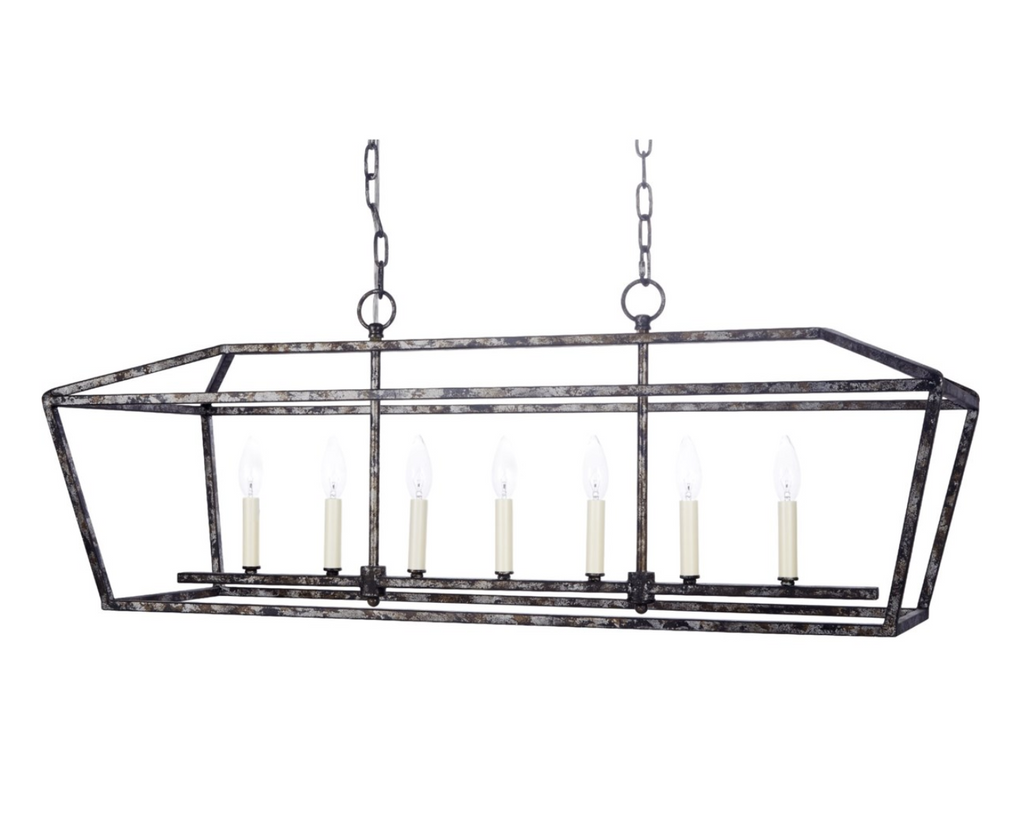 Harmon Rectangular Metal Chandelier - 13 Hub Lane   |  Chandelier