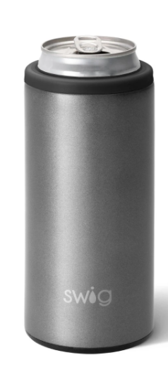 Shimmer Graphite Skinny Can Cooler